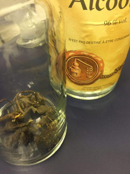 Alkohol k nakládání bylin pro výrobu tinktury
