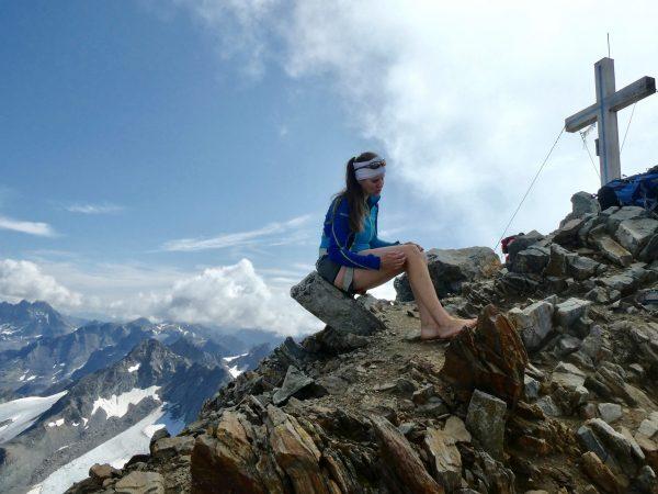 Na vrchol hory Piz Buin jsem vyšla bosa, přes ledovec však ne